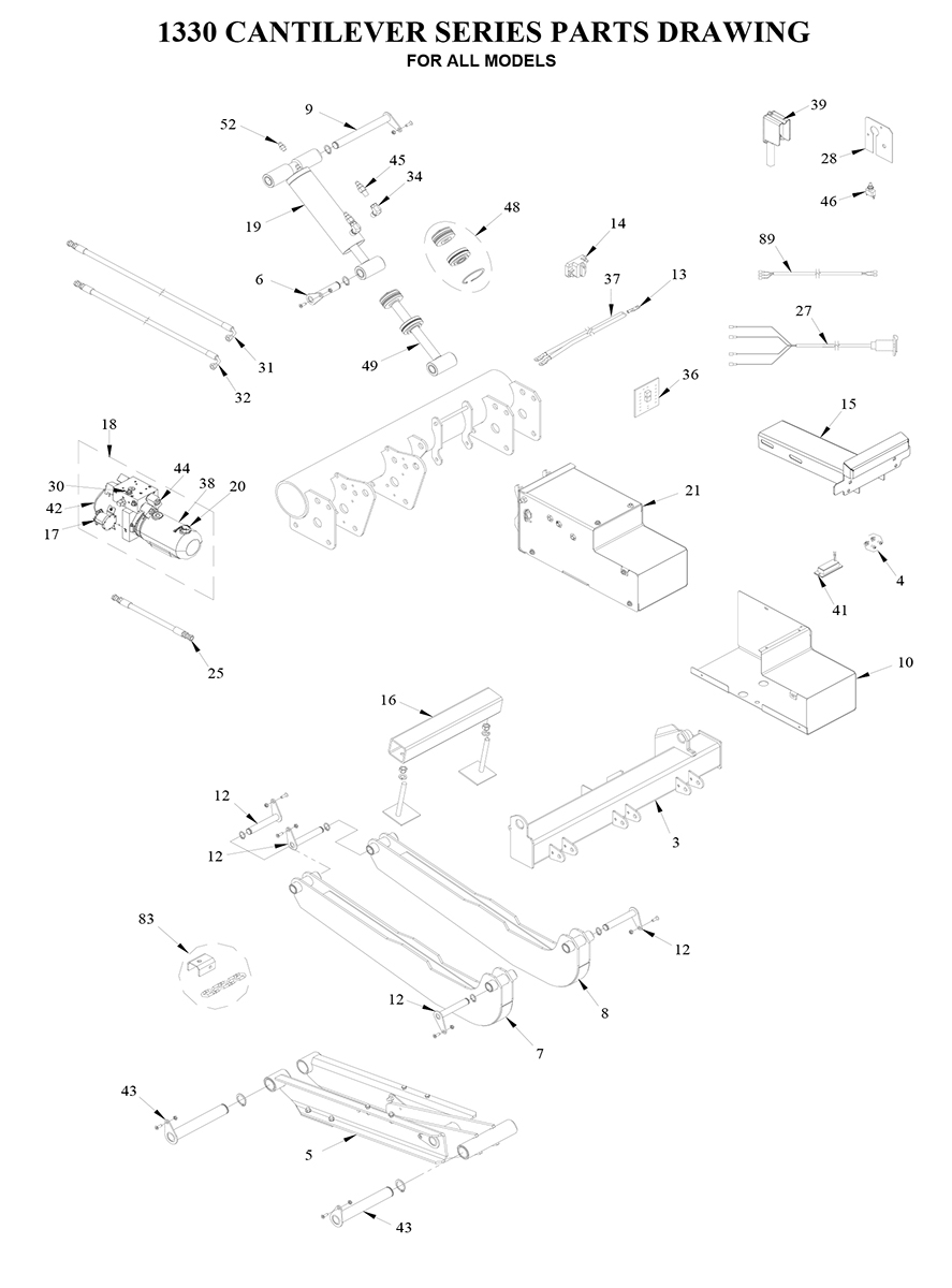 Tommy Gate Cantilever Series Diagram (2 OF 2) [Cargo Van]