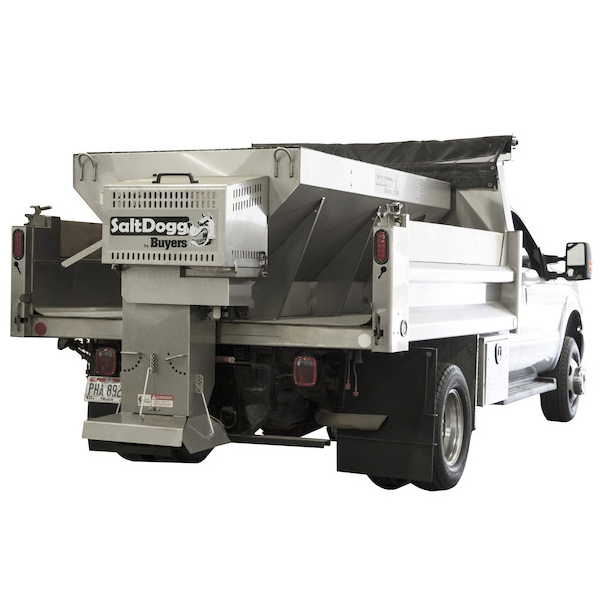 1400455SS-S.A.M. SaltDogg 2.5 Cubic Yard Gas Engine Stainless Steel Mid-Size Hopper Spreader