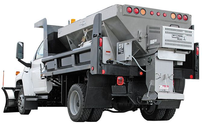 1400475SSH-S.A.M. SaltDogg 3.5 Cubic Yard Hydraulic Motor Stainless Steel Mid-Size Hopper Spreader