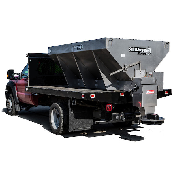1400475SSE-S.A.M. SaltDogg 3.5 Cubic Yard Electric Motor Stainless Steel Mid-Size Hopper Spreader