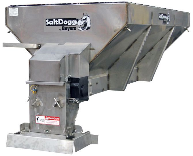 1400601SS-S.A.M. SaltDogg 2 Cubic Yard Electric Stainless Hopper Spreader