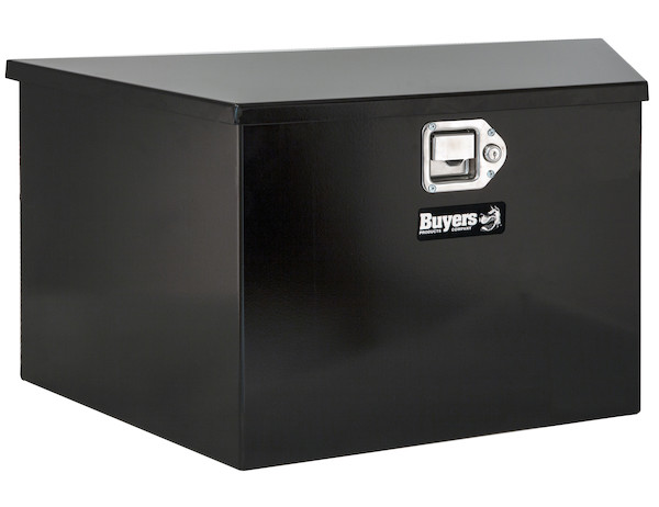 Buyers 1701280 - Black Steel Trailer Tongue Truck Box (16.38 In x 15 In x 35.25/21.25 In)