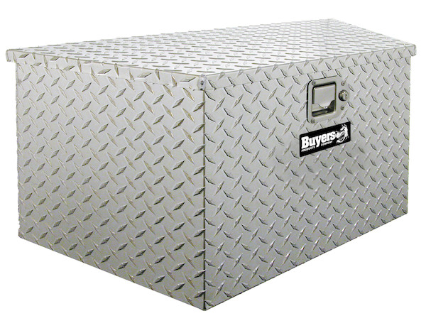 Buyers 1701380 - Diamond Tread Aluminum Trailer Tongue Truck Box (15 In x 14.5 In x 34/20.7 In)