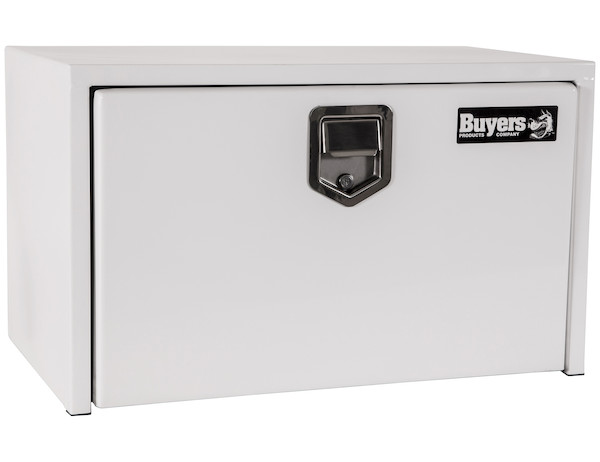 Buyers 1702200 - White Steel Underbody Truck Box with Paddle Latch Series