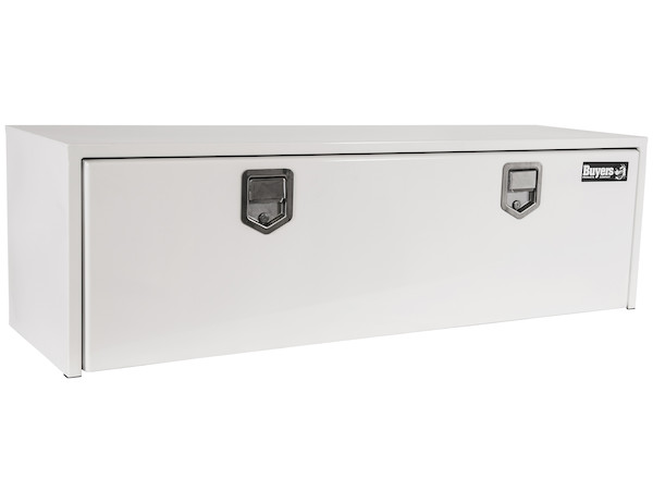 Buyers 1702210 - White Steel Underbody Truck Box with Paddle Latch Series