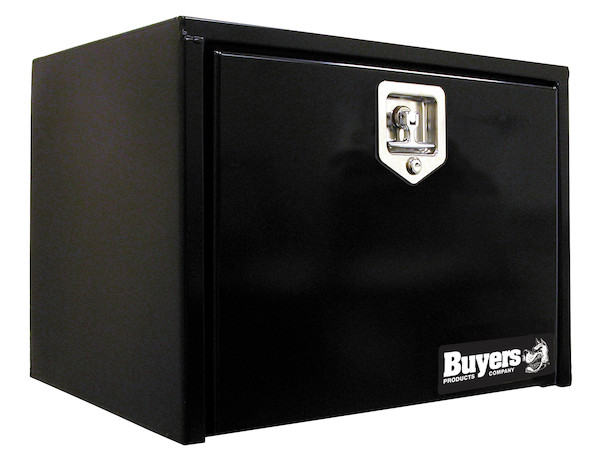 Buyers 1702295 - Black Steel Underbody Truck Box with T-Latch Series