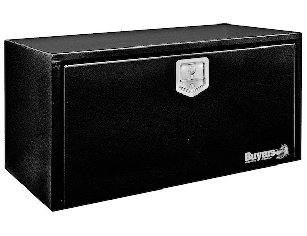 Buyers 1702303 - Black Steel Underbody Truck Box with T-Latch Series