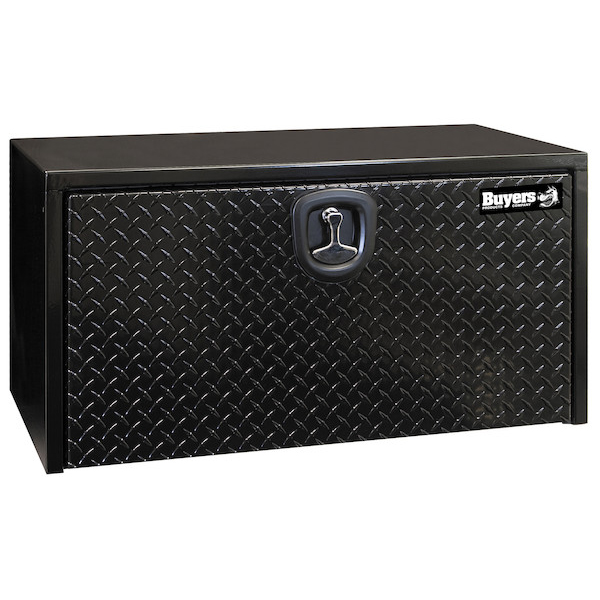 1702500 - Black Steel Underbody Truck Box with Aluminum Door Series
