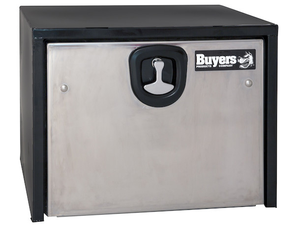 1702700 - Black Steel Underbody Truck Box with Stainless Steel Door Series