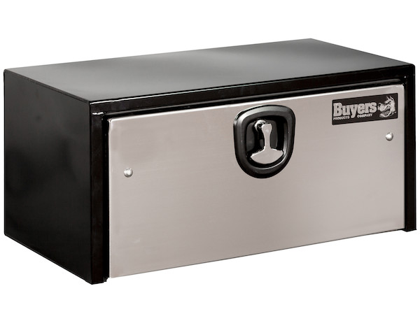 1702705 - Black Steel Underbody Truck Box with Stainless Steel Door Series
