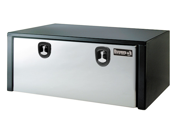 1702710 - Black Steel Underbody Truck Box with Stainless Steel Door Series
