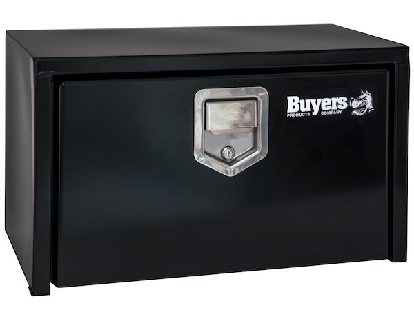 Buyers 1702100 - Black Steel Underbody Truck Box with Paddle Latch Series