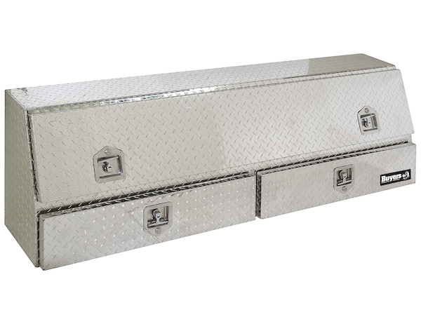 1705653 - Diamond Tread Aluminum Contractor Truck Box with Lower Drawers Series