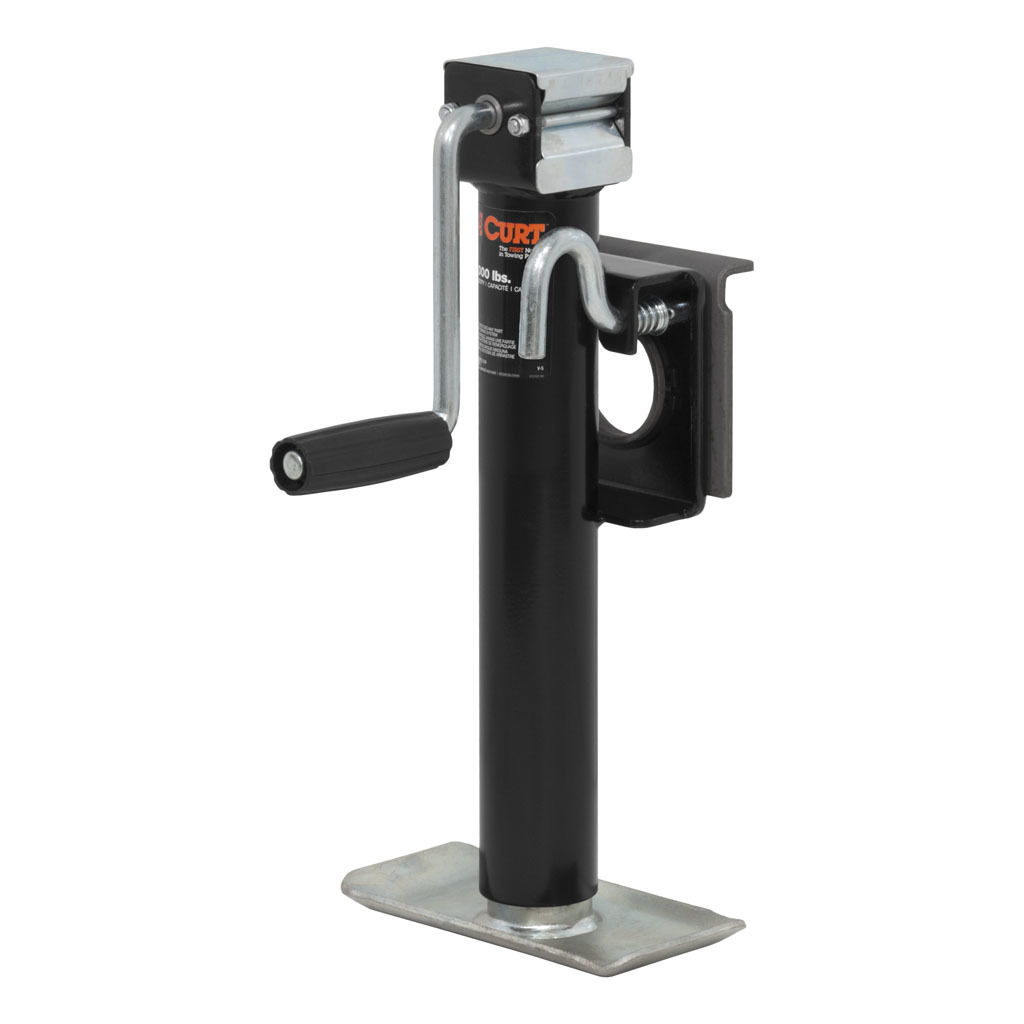 Curt Bracket-Mount Swivel Jack with Side Handle (2000 Lbs.) - 28302