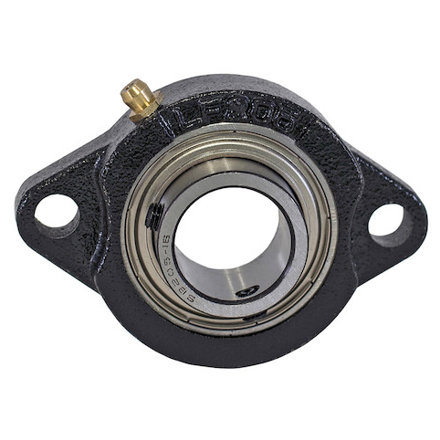 "1"" Shaft Diameter Eccentric Locking Collar Style Flange Bearing (1"" Dia)"
