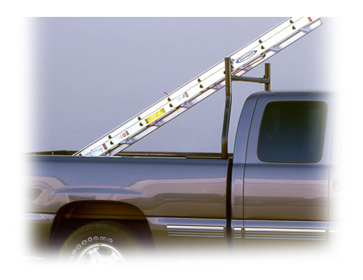 Medium Duty Econo Rack (Upright, Front or Back, Clamp-On Mount) [For Trucks Without Caps]
