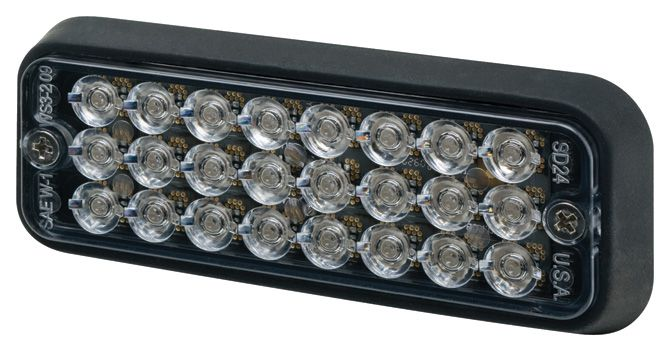 ECCO Lighting - Directional LED: Surface mount | 12VDC | 16 flash patterns | amber