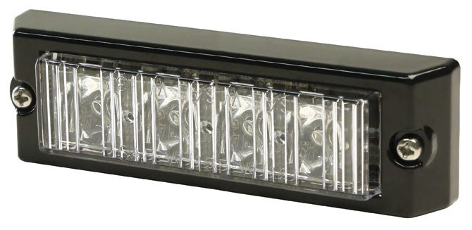 ECCO Lighting - Directional LED: Split-color | surface mount | 12-24VDC | 21 flash patterns | amber/clear
