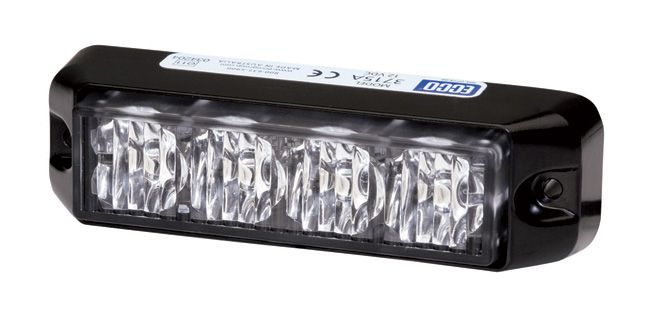 ECCO Lighting - Directional LED: Rectangular surface mount | 12VDC | 9 flash patterns | amber