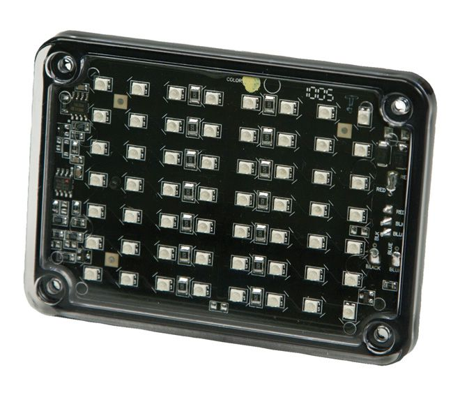 ECCO Lighting - Directional LED: Rectangular surface mount | 12VDC | 15 flash patterns | amber