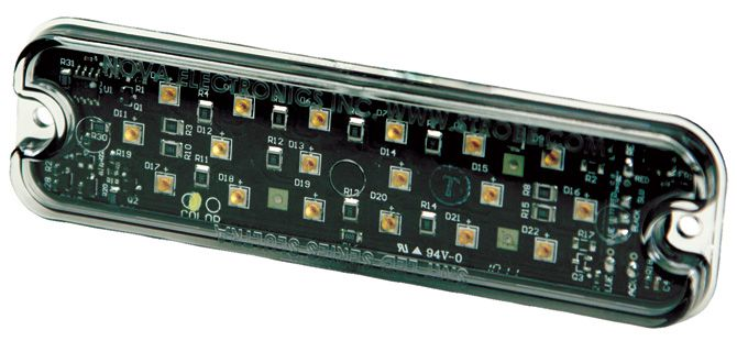 ECCO Lighting - Directional LED: Rectangular surface mount | 12VDC | 16 flash patterns | amber