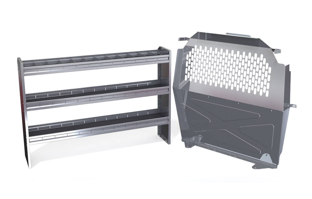 Compact Van LWB Aluminum Commercial Shelving Package
