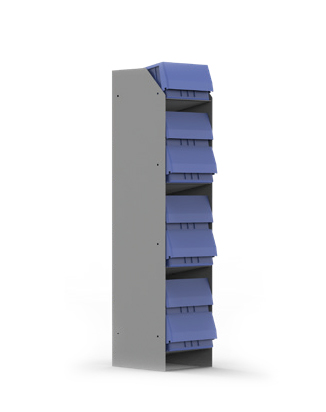 Kargo Master 40290 - Standing Bin Holder (With 7 x 10 Inch Bins)