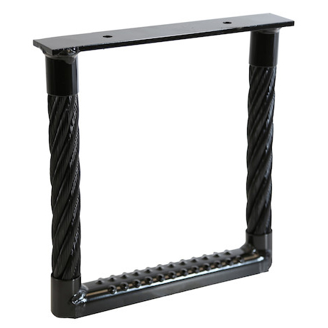 "Black Powder Coated Cable Type Truck Step (12"" x 12"")"