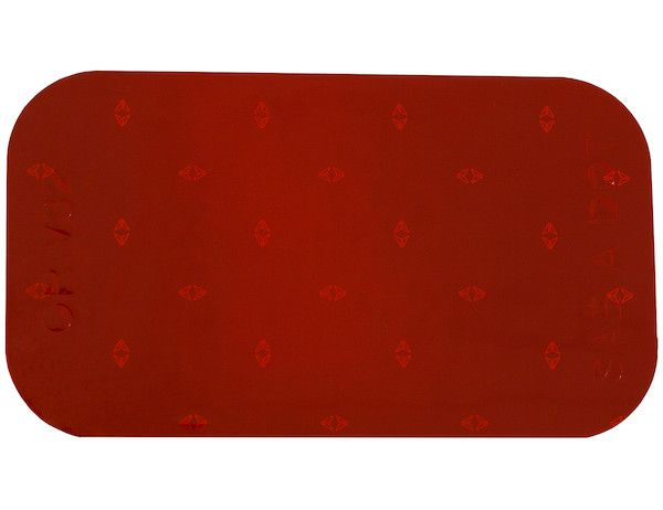 "3.5"" Red Rectangular DOT Stick-On Reflectors - Singles"