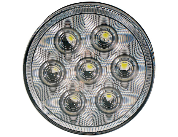 "4"" Clear Round Backup Light (7 LED)"