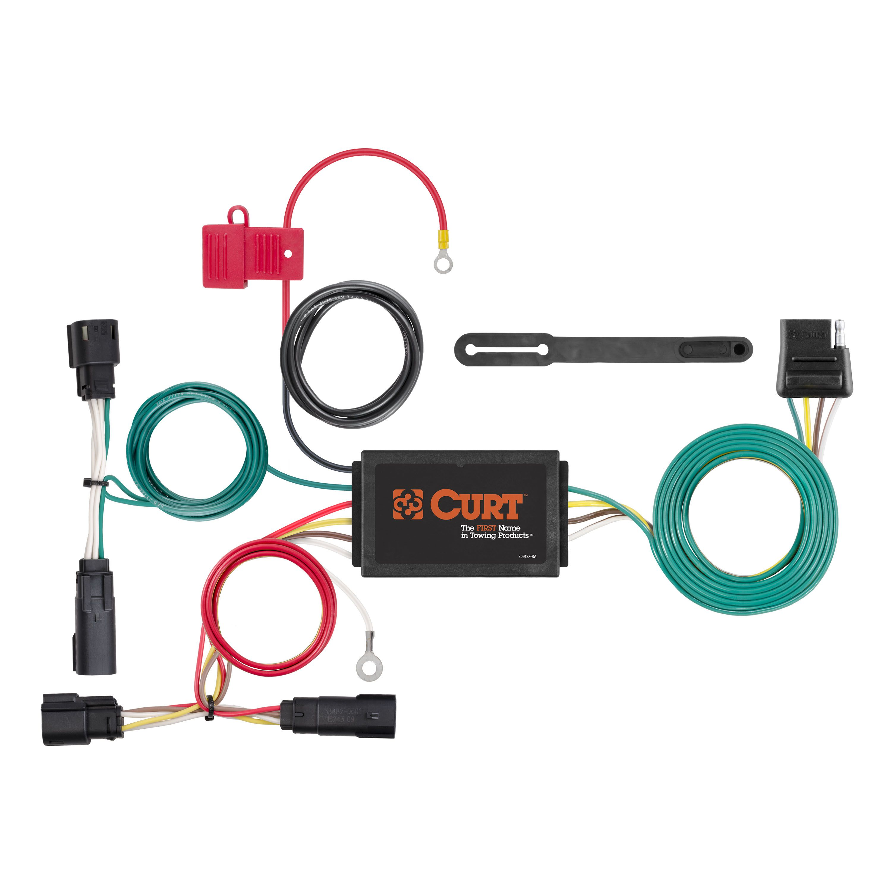 Curt 56315 - Custom Wiring Harness (4-Way Flat Output)