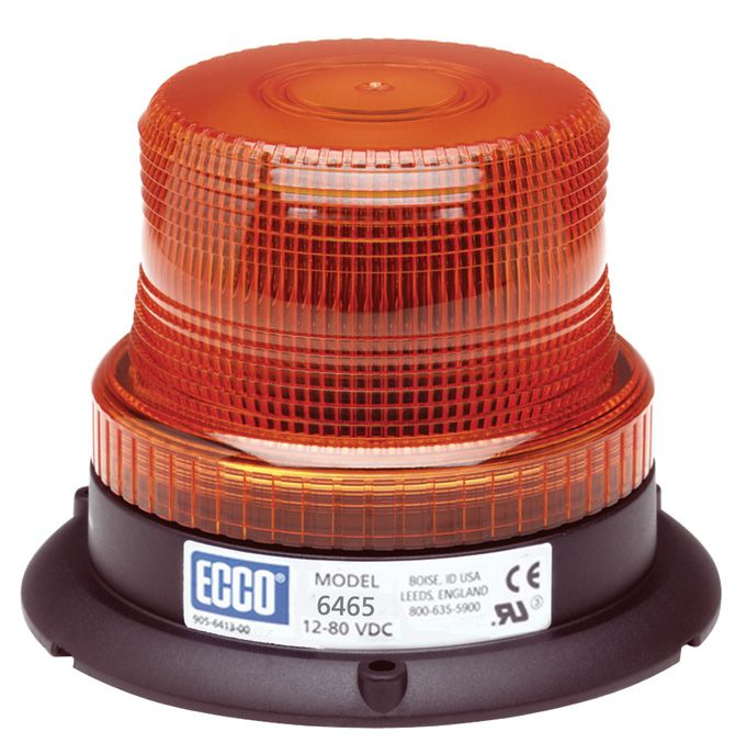 ECCO Lighting - LED Beacon: Low profile | 12-80VDC | pulse8 flash | amber