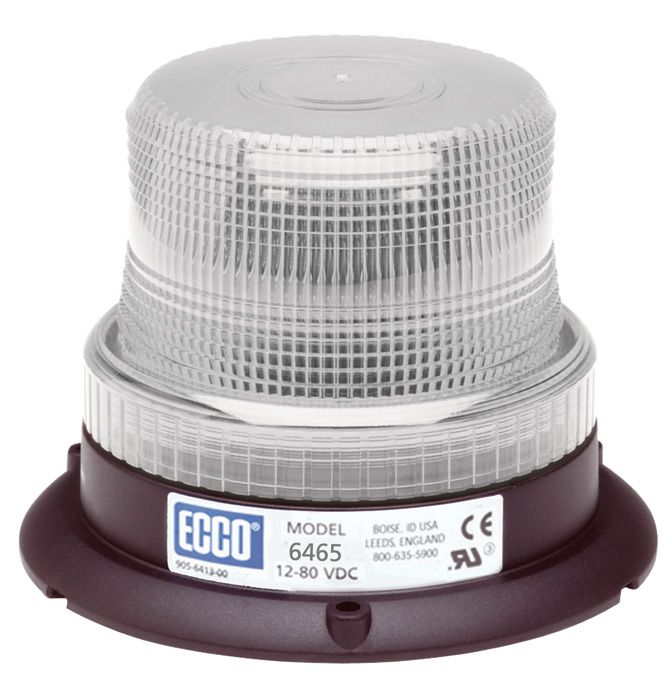 ECCO Lighting - LED Beacon: Low profile | 12-80VDC | pulse8 flash | clear