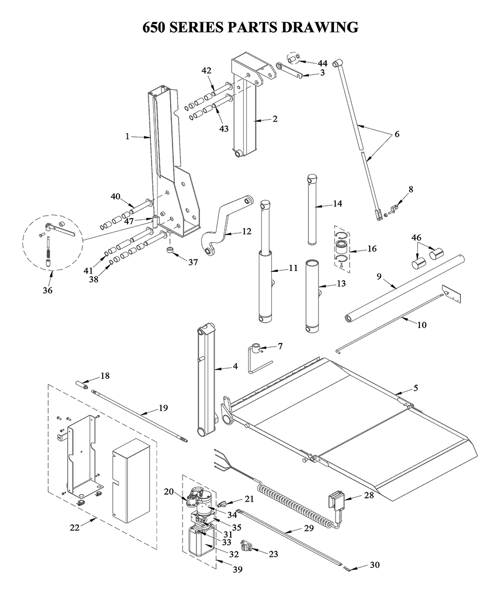 liftgate diagrams - tommy gate liftgate parts & diagrams ... liftgate wiring diagram
