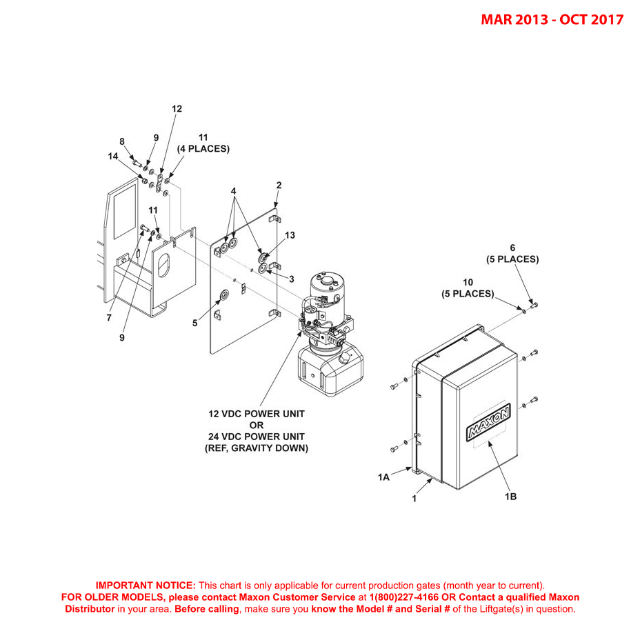 72-150 (Mar 2013 - Oct 2017) Gravity Down Pump Cover And Mounting Plate Assembly Diagram