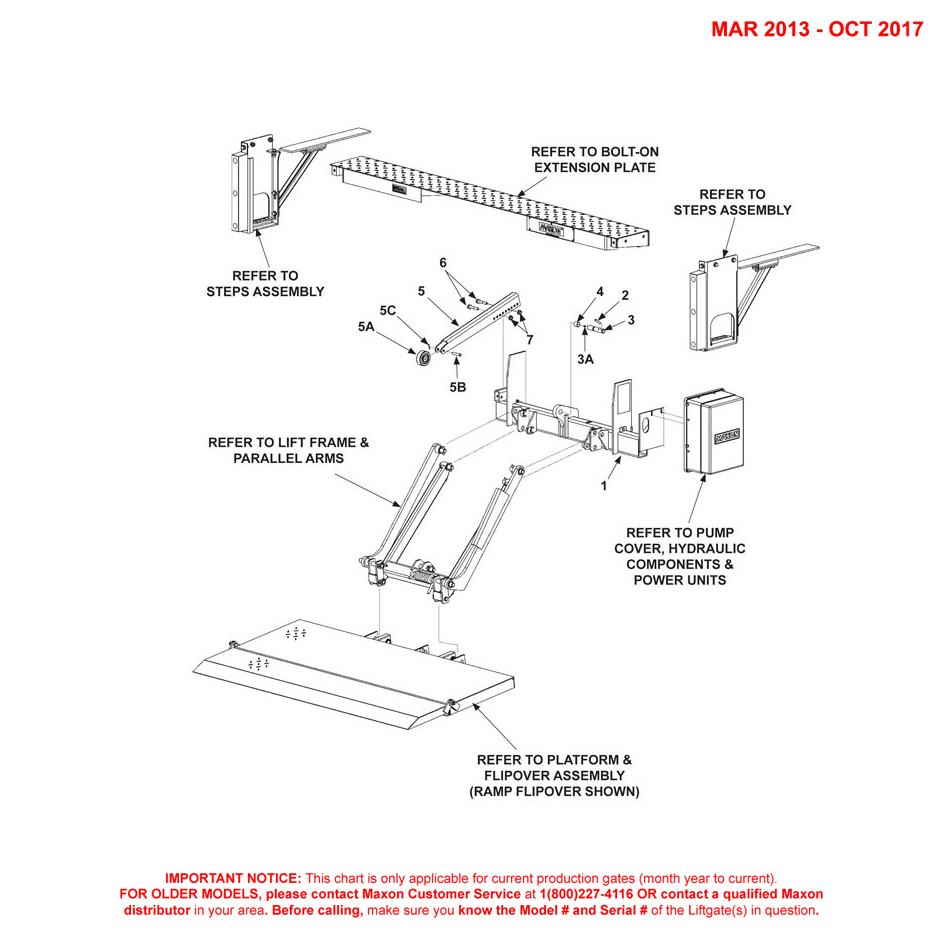 72-150/TE-20 (Mar 2013 - Oct 2017) Galvanized Main Assembly Diagram