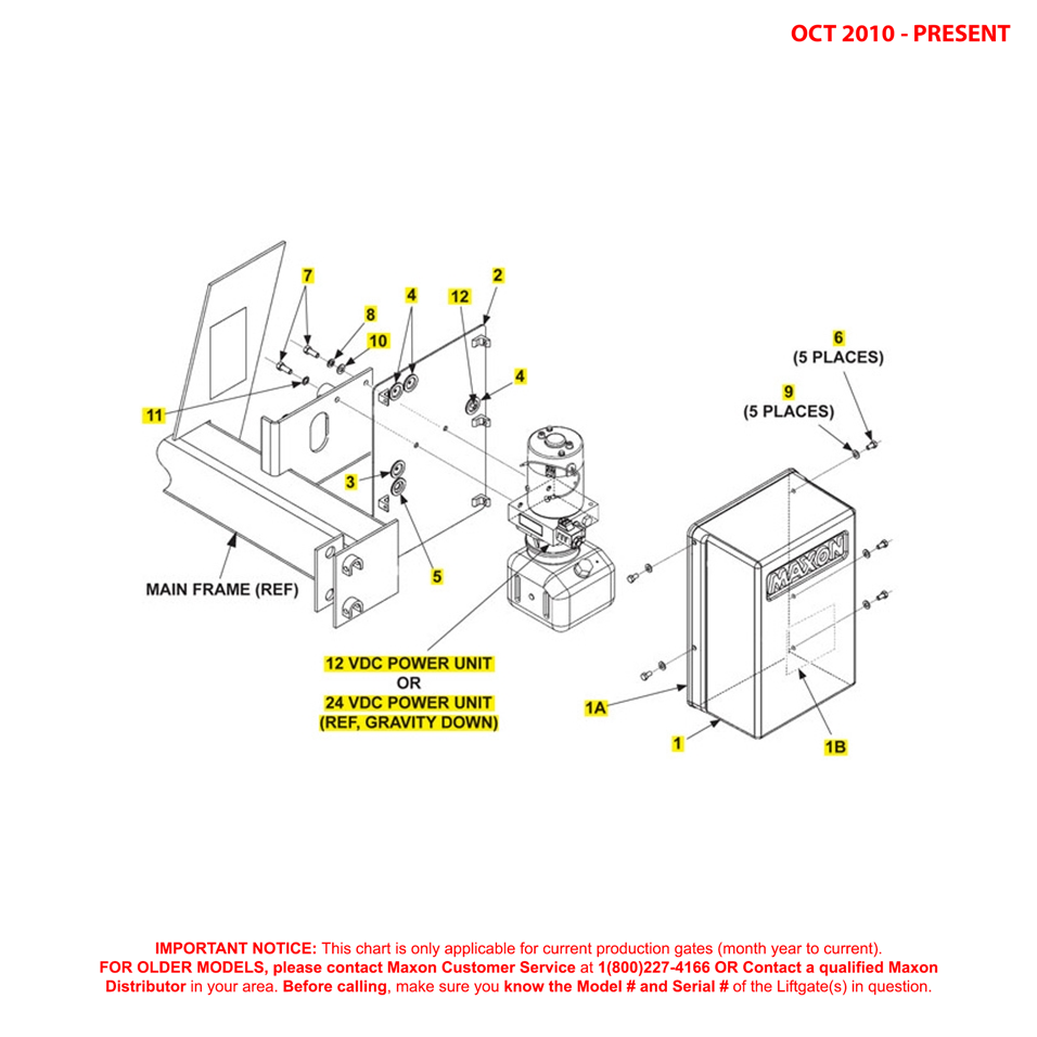 72-25/72-30 (Oct 2010 - Present) Gravity Down Pump Cover And Mounting Plate Assembly Diagram
