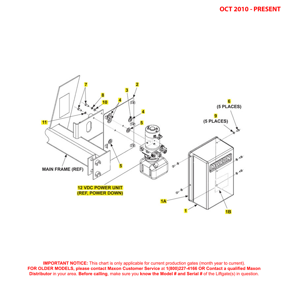 72-25/72-30 (Oct 2010 - Present) Power Down Pump Cover And Mounting Plate Assembly Diagram