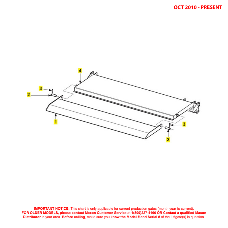 72-25/72-30 (Oct 2010 - Present) Ramp Platform And Flipover Assembly Diagram