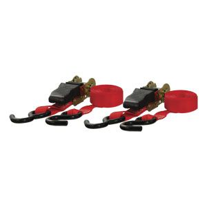 83001 - 10' Red Cargo Straps with S-Hooks (500 lbs. 2-Pack)