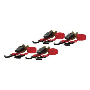 83002 - 16' Red Cargo Straps with S-Hooks (500 lbs. 4-Pack)