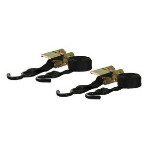 83009 - 10' Black Cargo Straps with S-Hooks (500 lbs. 2-Pack)