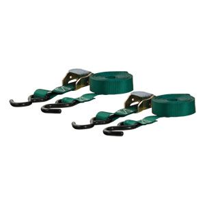 83015 - 15' Dark Green Cargo Straps with S-Hooks (300 lbs. 2-Pack)