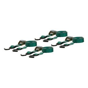 83016 - 16' Dark Green Cargo Straps with S-Hooks (300 lbs. 4-Pack)