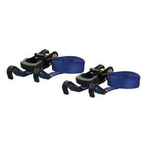 83020 - 16' Blue Cargo Straps with J-Hooks (733 lbs. 2-Pack)