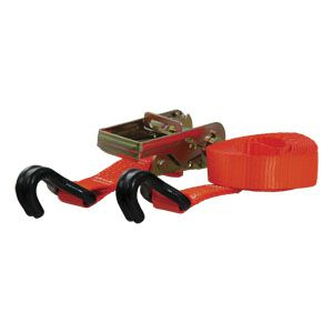 83025 - 16' Orange Cargo Strap with J-Hooks (1100 lbs.)