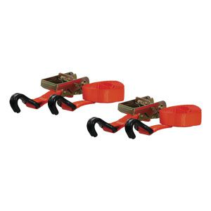 83026 - 16' Orange Cargo Straps with J-Hooks (1100 lbs. 2-Pack)
