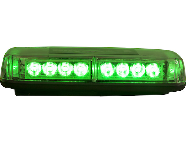 "11"" Green Rectangular Mini Light Bar (24 LED)"