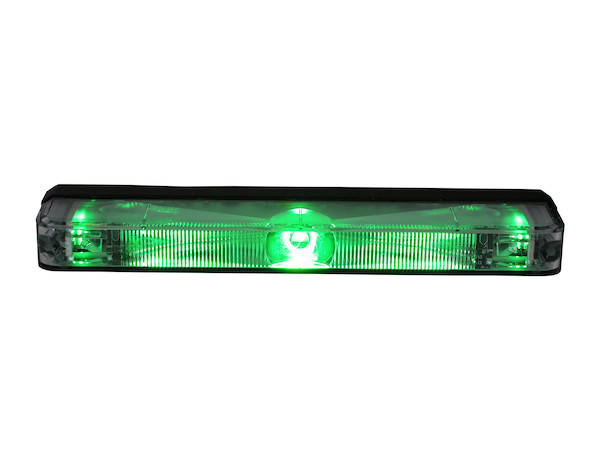 "5"" Green Low Profile Strobe (For Narrow Grill Spacing)"