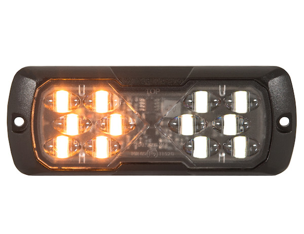 "4.5"" LED Strobe Light Amber/Clear"